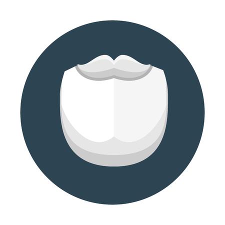 Beard and mustache icon Çizim
