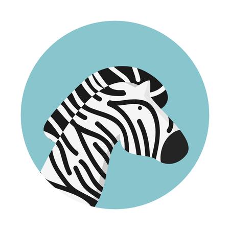 화려한 프레 젠 테이 션에 얼룩말, 흑백 줄무늬. 일러스트
