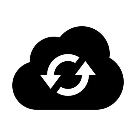 Reload cloud service Vectores