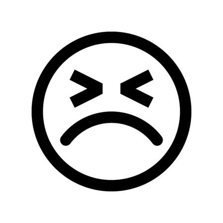 Emoji d'expression faciale grincheux Vecteurs