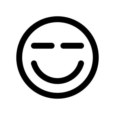 Squint reaction emoticon
