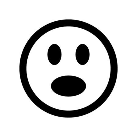 Suprised emoticon - Social media