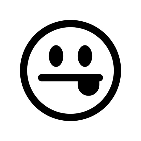Emoji with tongue-out