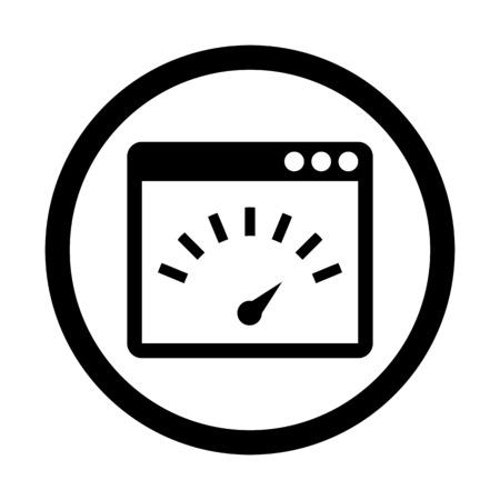 Internet speed test Illustration