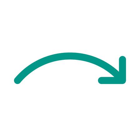Forward curved arrow