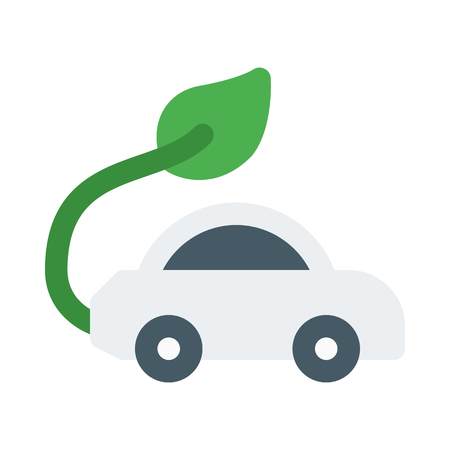 Pollution free car Stock Illustratie