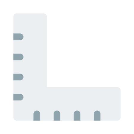 L-square alignment ruler Ilustração