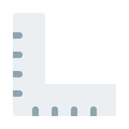 L-square alignment ruler Illustration