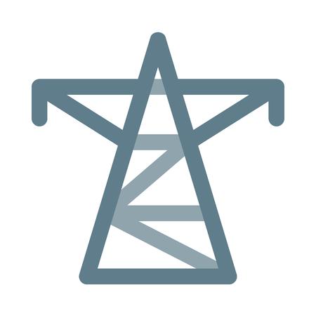 Electricity transmission tower Foto de archivo - 127169723