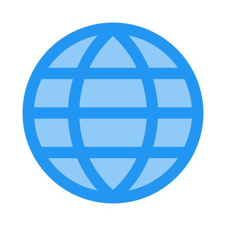 Grid earth globe Vectores