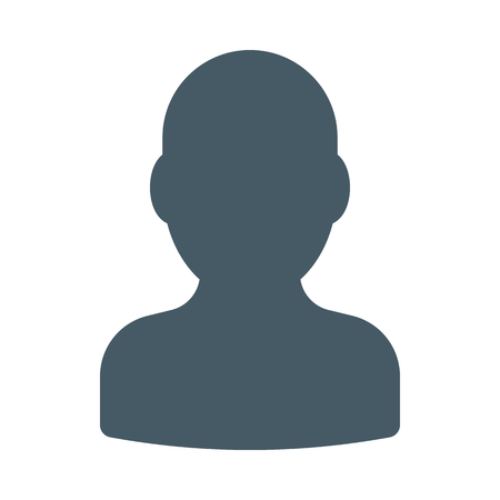 Anonymous male profile Illustration