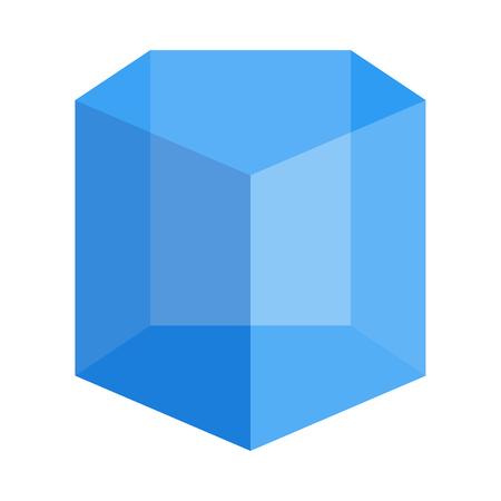 semiregular pentagonal prism Ilustração