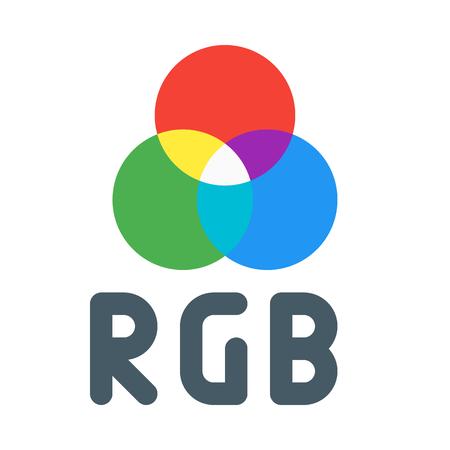 RGB color model Illustration