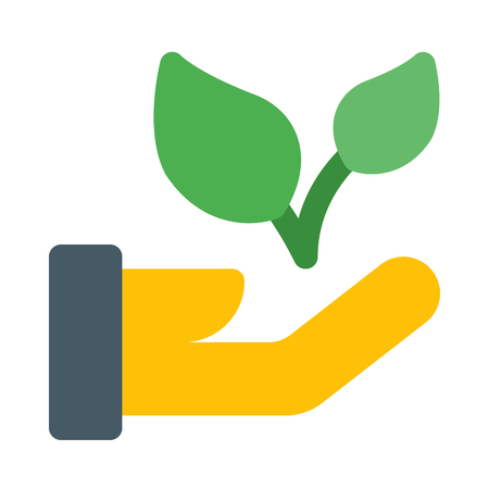 Seed a plant, save nature. Ilustração