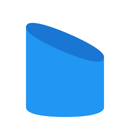 sliced cylinder shape