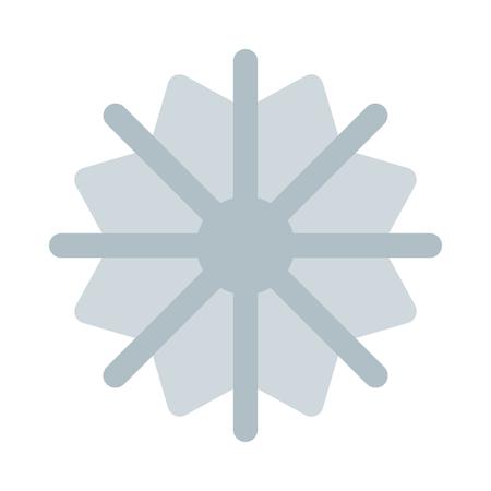 Simple star snowflake Illustration