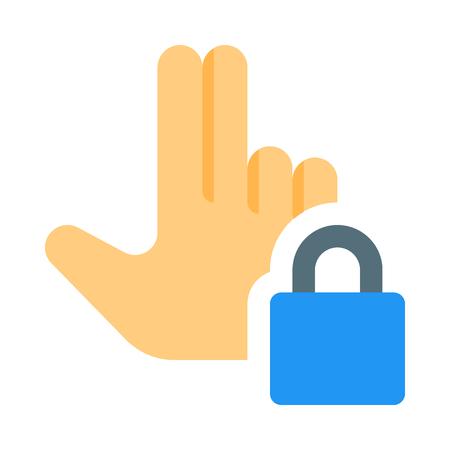 Touch to lock Stock Illustratie