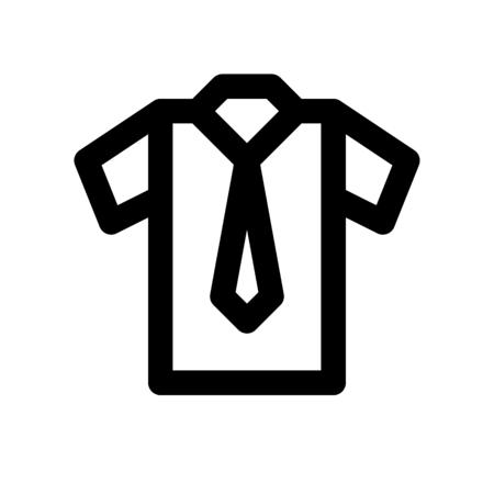 shirt with tie 일러스트