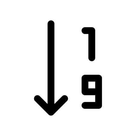 order by number ascending Illustration
