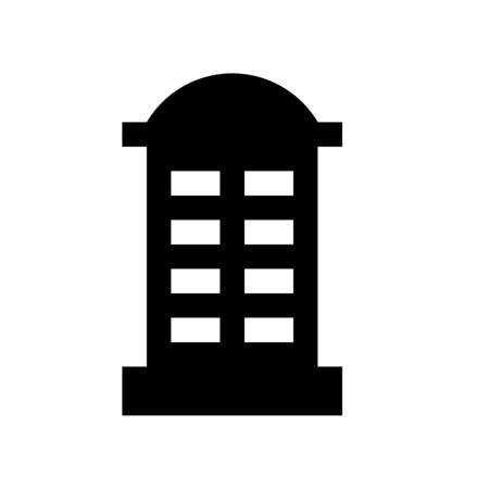 telephone box Stock Illustratie