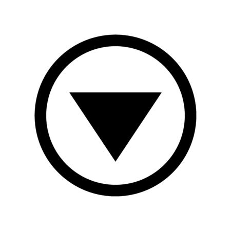 arrow triangle down Ilustração