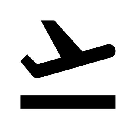 airplane departure Ilustración de vector