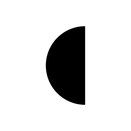 third quarter moon Illustration