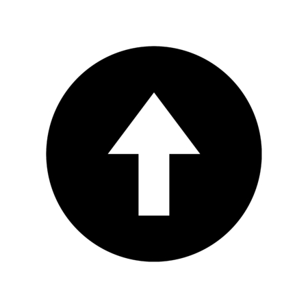 arrow circle up Vektorové ilustrace