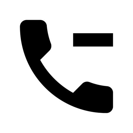 call minus Illustration