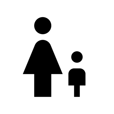 female with kid