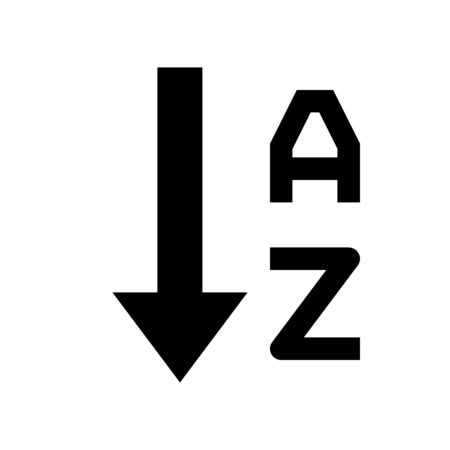 alphabetical order ascending Ilustração