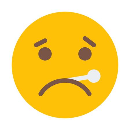 Fever or Sick Emoji Illustration