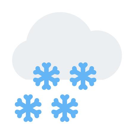 snowing Vector Illustratie