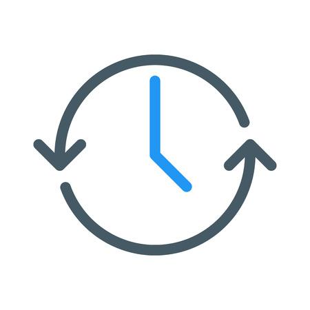 Actualizar hora o sincronizar Ilustración de vector