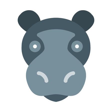 Hippopotamus Semiaquatic Mammal 일러스트