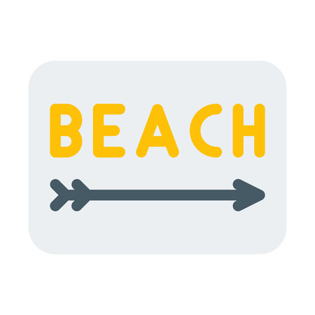 Beach Sign Ilustrace