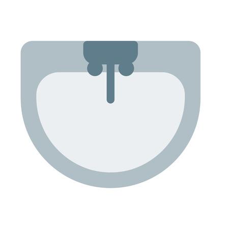 Grifería para lavabo Ilustración de vector