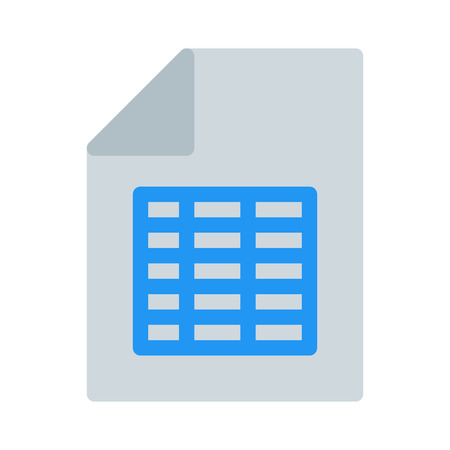 Spread Sheet File Illustration