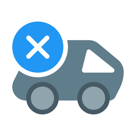 Cancel Cargo Delivery Иллюстрация