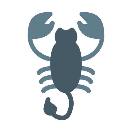 Scorpio Astrological Symbol Illustration