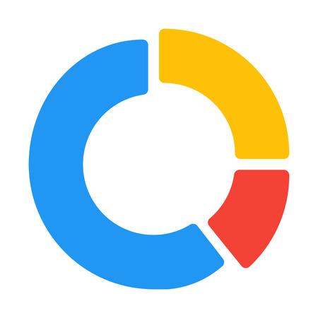 Ring or Donut Chart Ilustração