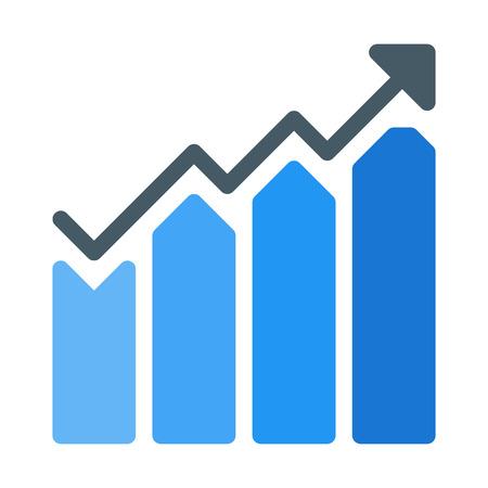 Increasing Bar Chart Vector Illustration