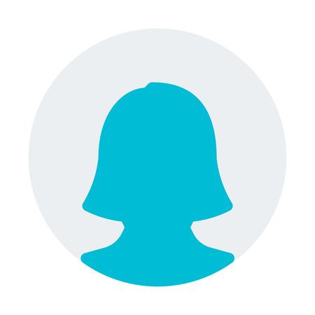 woman online profile Vektoros illusztráció