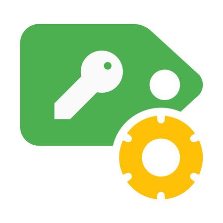 Key Tag Settings 向量圖像