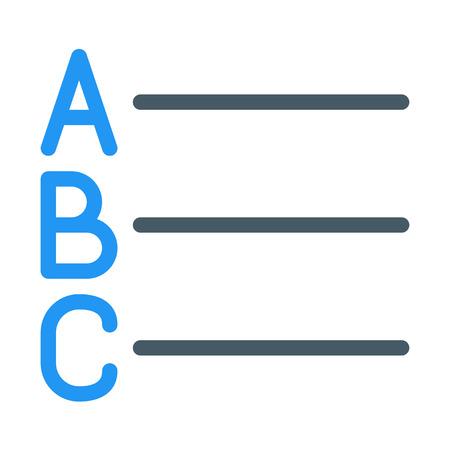Alphabet List Button