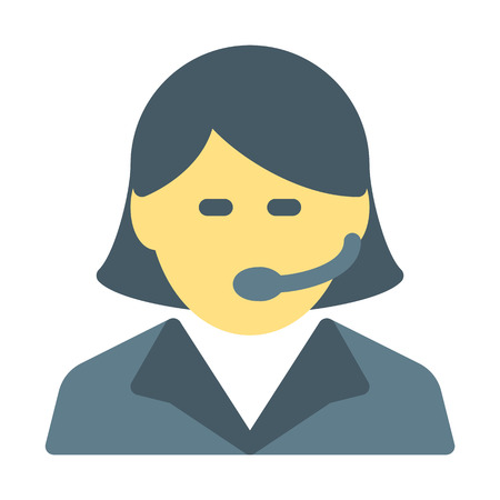 Dispacher Female Agent Stockfoto - 126403753