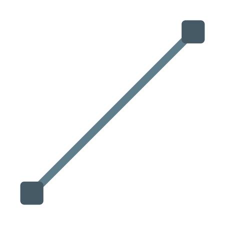 Line tool design Vektorové ilustrace