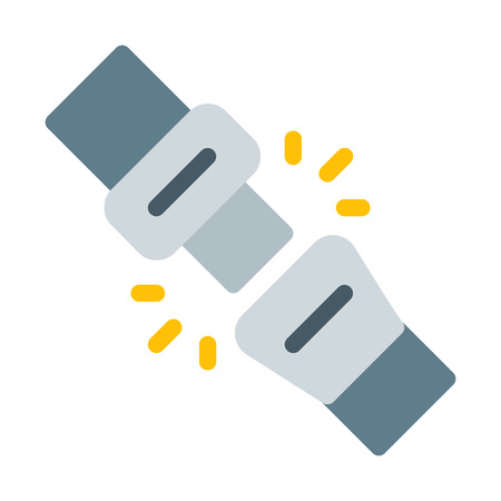 Fasten Seat Belt Illustration