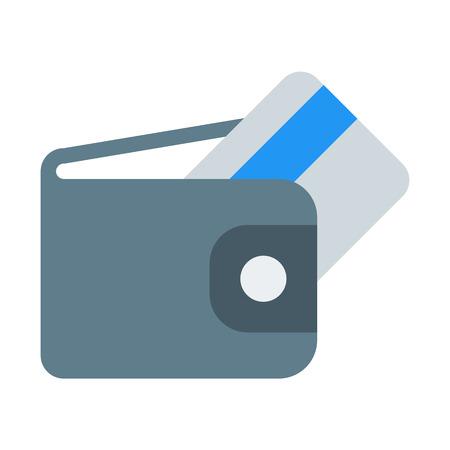 Wallet with Card Foto de archivo - 126403903