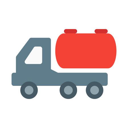 tank truck - oil transportation Illustration